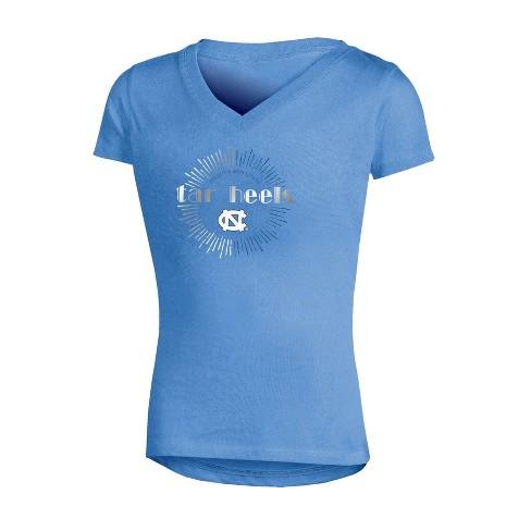 NCAA Girl's V-Neck T-Shirt North Carolina Tar Heels - image 1 of 1