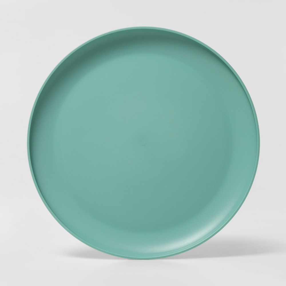 "Image of ""10.5"""" Plastic Dinner Plate Green - Room Essentials"""