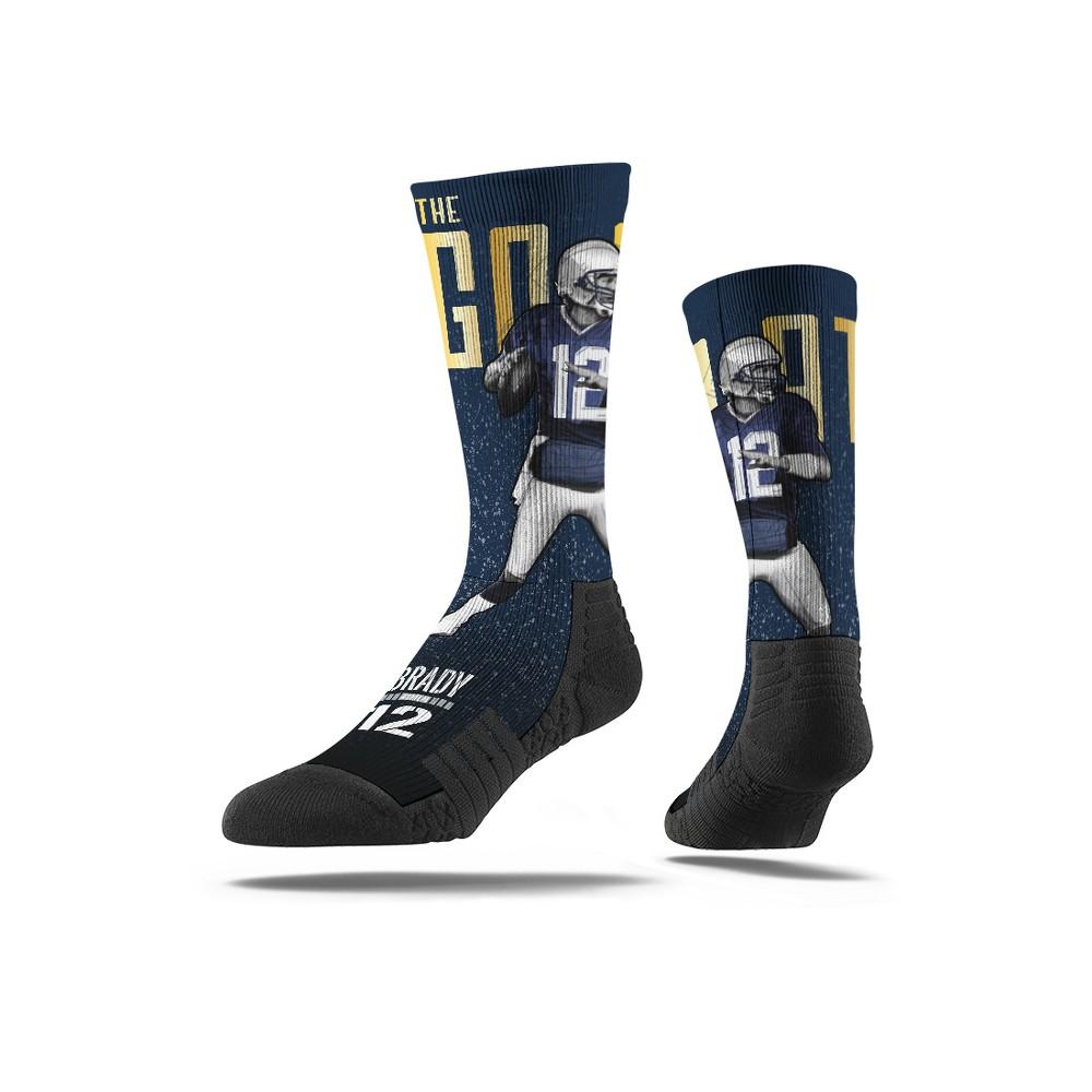 NFL New England Patriots Tom Brady Premium Player Socks - M/L, Men's