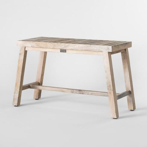 18 X 12 Decorative Wooden Bench Natural Smith Hawken