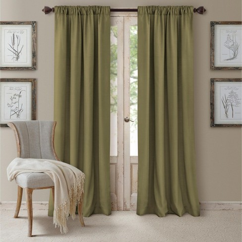 Cachet Textured Solid Blackout Window Curtain Panel - Elrene Home Fashions - image 1 of 4