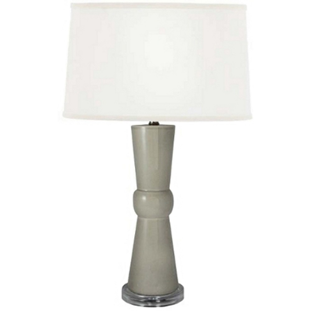 Bowtie Transparent Ceramic Acrylic Table Lamp Gray (Lamp Only) - Fangio Lighting