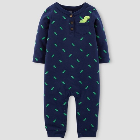 Baby Boys' Dinosaur Jumpsuit - Just One You™ Made by Carter's®  Navy - image 1 of 1