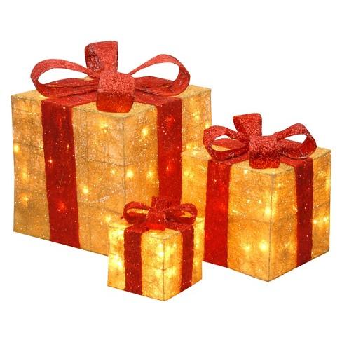 6 10 14 sisal lit gold gift boxes target