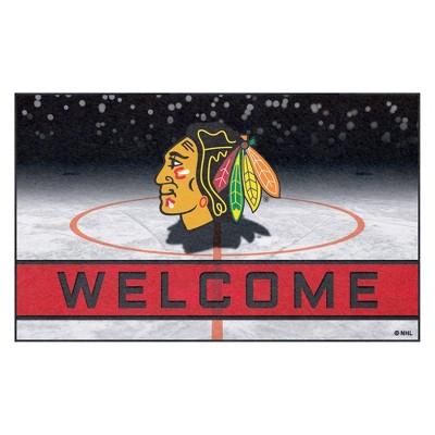 NHL Chicago Blackhawks Crumb Rubber Door Mat 18 x30