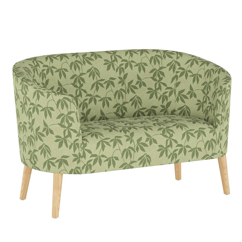 Curved Settee Lyanna Floral Sage Tonal Skyline Furniture