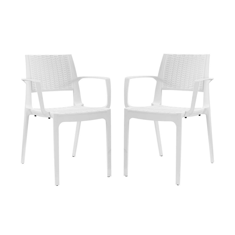 Astute Dining Set Set of 2 White - Modway