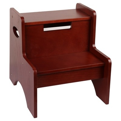 Wildkin Two Step Stool - Cherry Finish