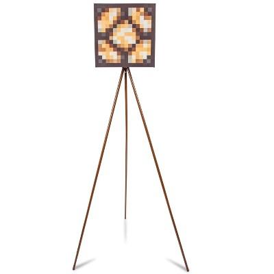 Robe Factory LLC Minecraft Glowstone Tripod Floor Lamp   62 Inches Tall
