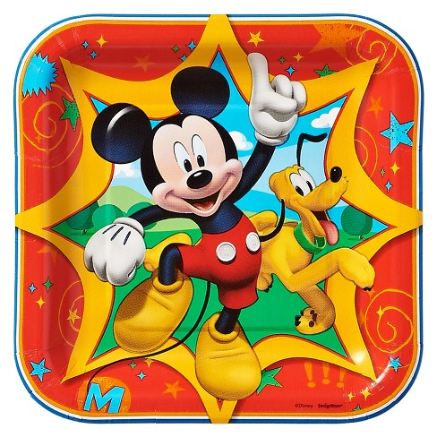 8ct Mickey Mouse Square Dessert Plates - image 1 of 1