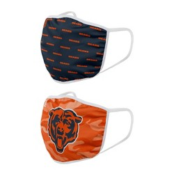 NFL Chicago Bears Adult Face Covering 2pk