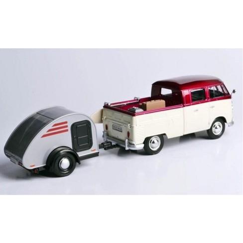 7427f3da4fc3e9 Volkswagen T1 Pickup Truck Purple   Cream W Surfboard
