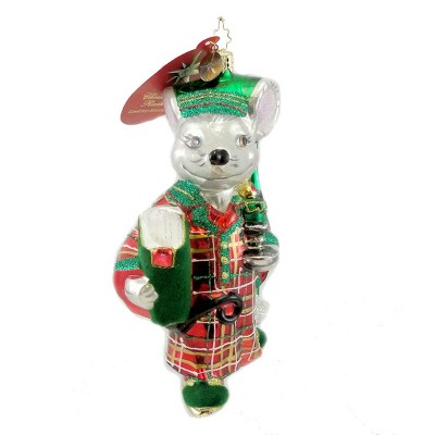 Christopher Radko Winter's Nap Ornament Christmas Mouse Mice  -  Tree Ornaments