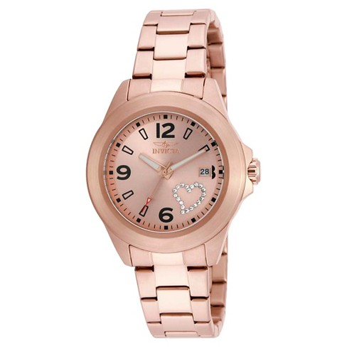 Women's Invicta 16328 Specialty Quartz 3 Hand Rose Gold Dial Link Watch - Rose Gold - image 1 of 1