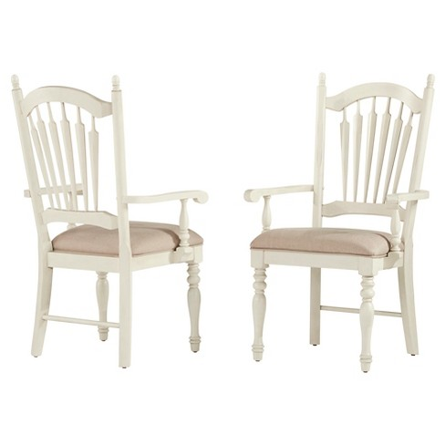Meadow Hills Arm Dining Chair Wood/Antique White (Set of 2) - Inspire Q - image 1 of 4