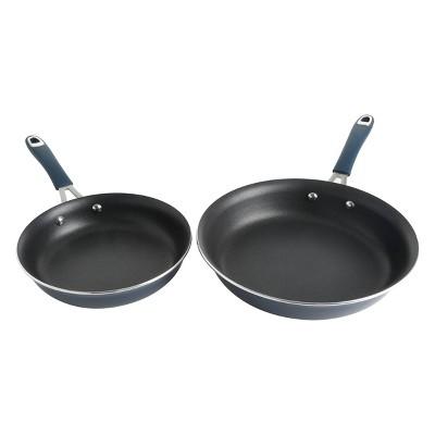 Cravings by Chrissy Teigen 2pk Aluminum Fry Pan Set Blue