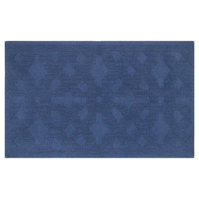 Jacquard Geometric Woven Bath Mat ( 34 x20 )Insignia Blue - Fieldcrest™