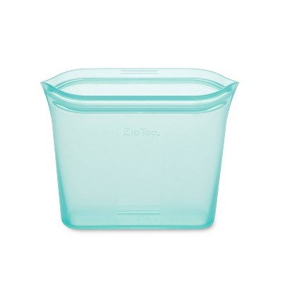 Zip Top 24oz Reusable 100% Platinum Silicone Container - Sandwich Bag - Teal