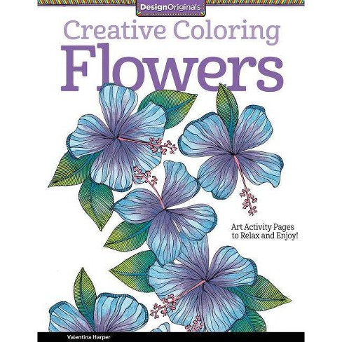 Flowers - (Creative Coloring) by  Valentina Harper (Paperback) - image 1 of 1