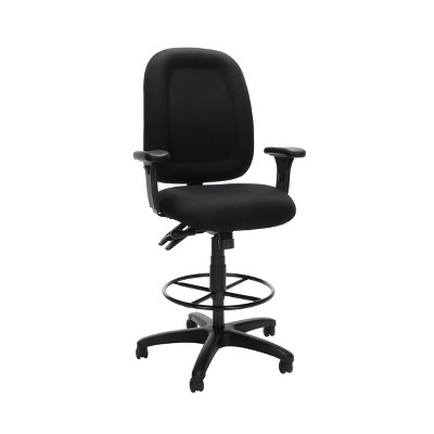 Ergonomic Mid Back Task Chair with Arms and Drafting Kit Black - OFM