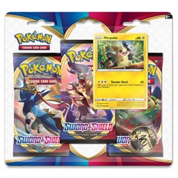 Pokemon Trading Card Game Sword & Shield S1 3 Pack Blister featuring Morpeko