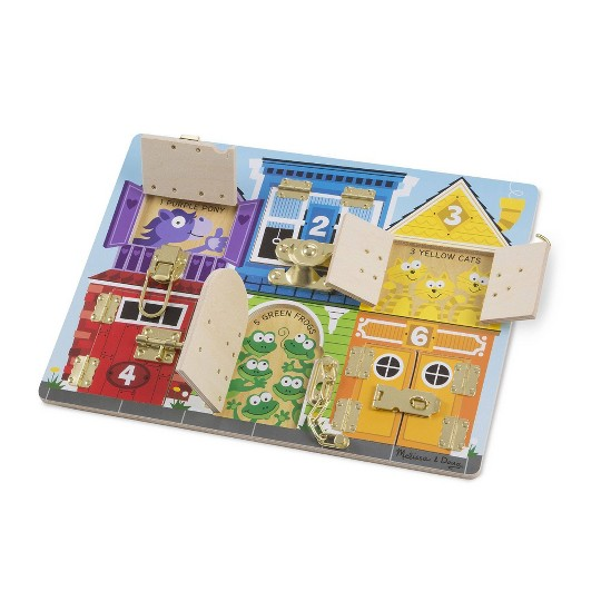 Melissa & Doug Latches Wooden Activity Board image number null