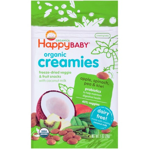 Happy Creamies Apple, Spinach, Pea & Kiwi Veggie and Fruit Snacks - 1oz - image 1 of 4