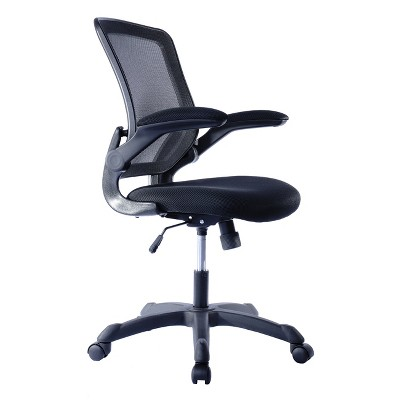 Mesh Task Office Chair with Flip Up Arms Black - Techni Mobili