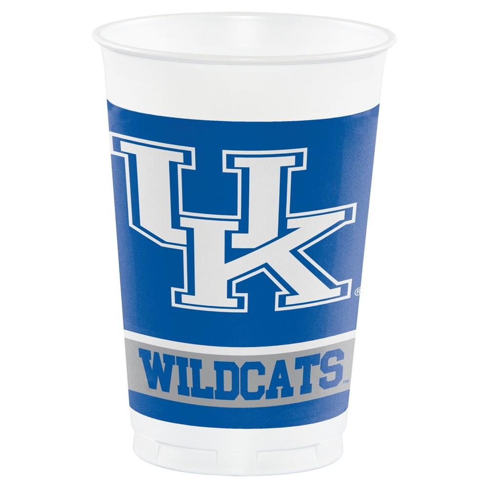 8ct University Of Kentucky Wildcats Plastic Cups
