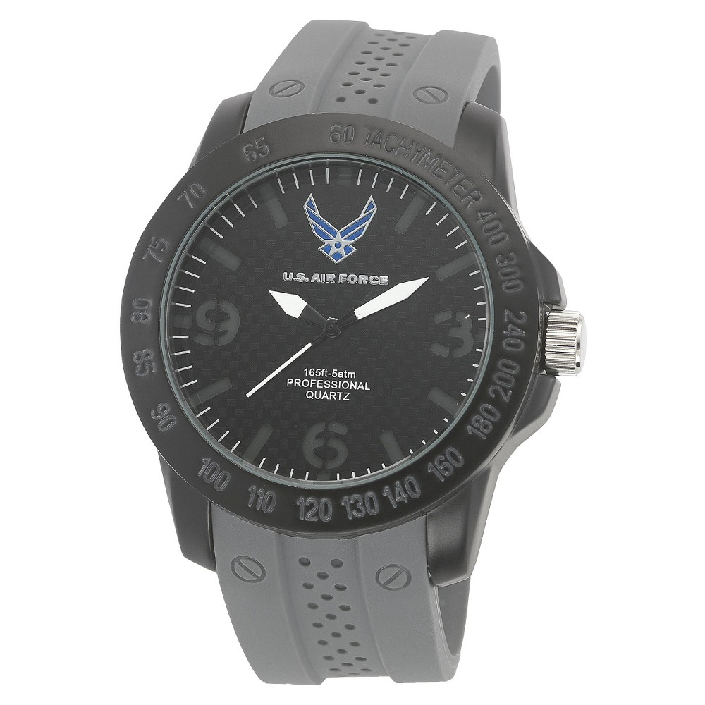 Men's Wrist Armor U.S. Air Force C26 Analog Quartz Watch - Black & Gray, Men's, Size: Small