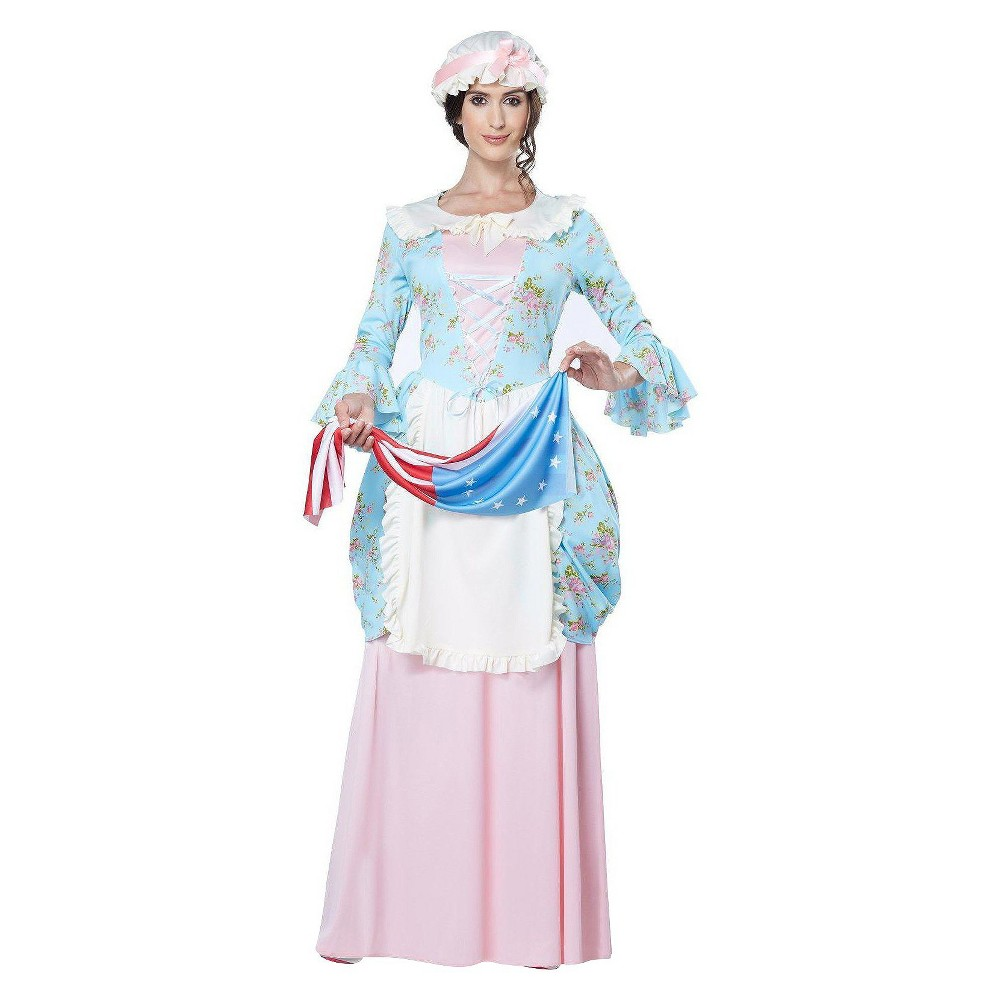 Women's Colonial Lady/Betsy Ross Costume - Large, Pink