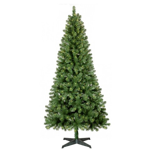 7ft Prelit Artificial Christmas Tree Alberta Spruce Clear Lights -  Wondershop™ - 7ft Prelit Artificial Christmas Tree Alberta Spruce : Target