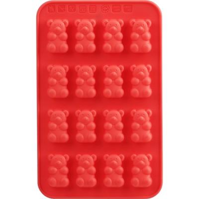 Trudeau 2pk Gummy Bears Chocolate Molds Red
