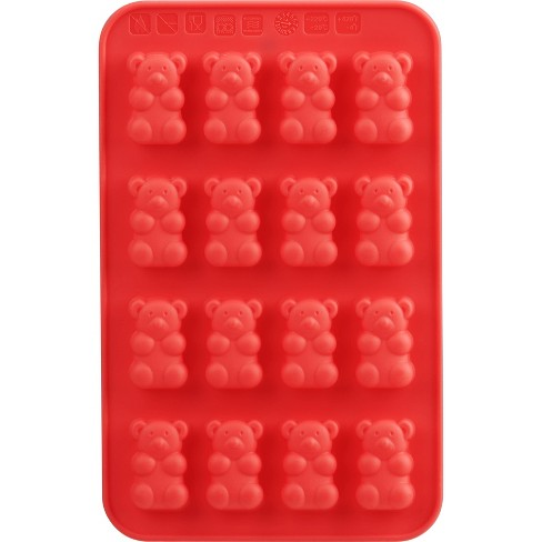 Trudeau 2pk Gummy Bears Chocolate Molds Red - image 1 of 4