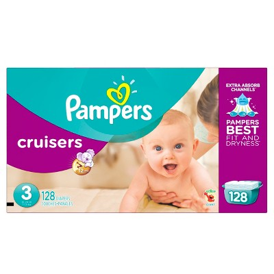 Pampers Cruisers Diapers, Giant Pack - Size 3 (128 ct)