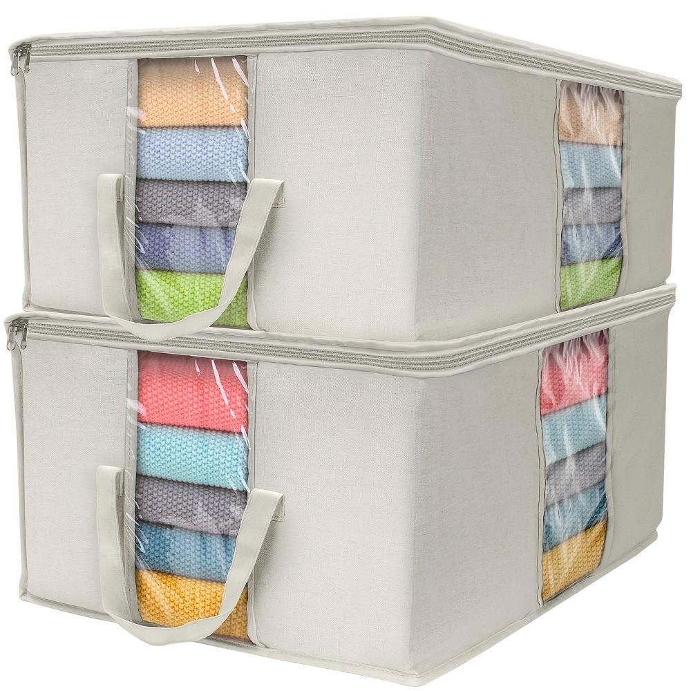 Sorbus Storage Organizer Set 2pk Beige, Beige Nude
