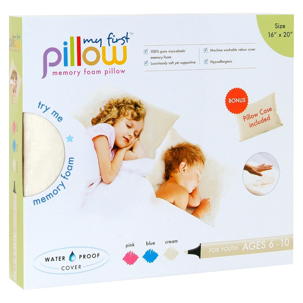 "Image of ""My First Pillow Memory Foam with Free Pillowcase Youth - Cream (Ivory) (16""""x20"""")"""