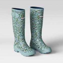 Women's Tall Floral Rain Boots Blue - Smith & Hawken™