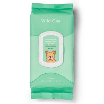 Wild One Biodegradable Grooming Dog Wipes - 70ct