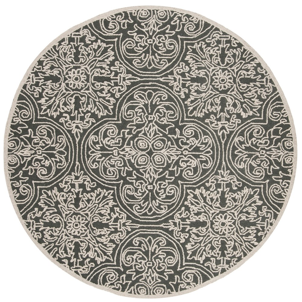 6' Shapes Tufted Round Area Rug Gray - Safavieh