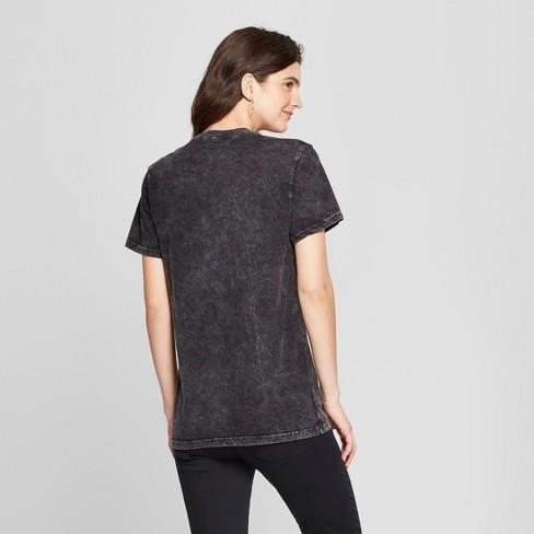 5b33f3e3 Women's Short Sleeve Babe Acid Wash Boyfriend Graphic T-Shirt - Mighty Fine  (Juniors') Black : Target