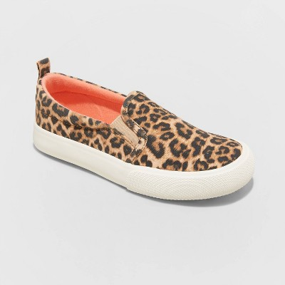 Girls' Madison Leopard Print Slip-On Sneakers - Cat & Jack™ Brown