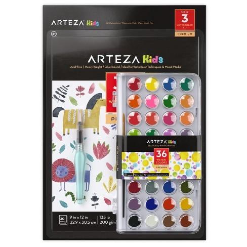 ARTEZA Kids Beginner Watercolor Kit - image 1 of 4