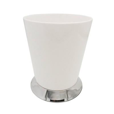 Mod Wastebasket White/Chrome - Popular Bath