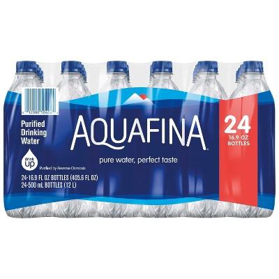 Aquafina Pure Unflavored Water - 24pk/16.9 fl oz Bottles