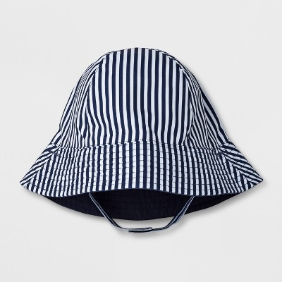Baby Boys' Stripe Bucket Hat - Cat & Jack™ Navy 6-12M