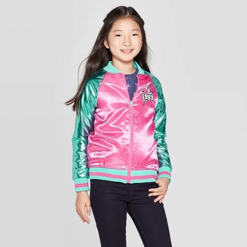Girls' L.O.L. Surprise! Go Team Glitter Track Jacket - Pink - image 1 of 3