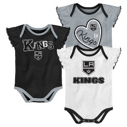 NHL Los Angeles Kings Girls' Winning Goal 3pk Body Suit Set