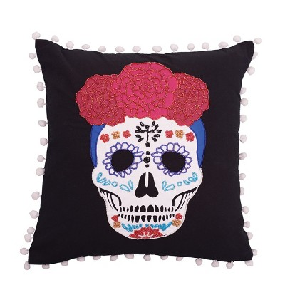 "C&F Home 16"" x 16"" Sugar Skull Pillow"