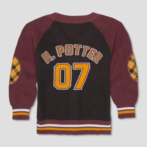 50587bb7c Toddler Boys  Harry Potter Varsity Cardigan Long Sleeve Cardigan ...